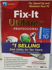 Avanquest Fix-It Utilities Professional Windows PC Registry Cleaner Software
