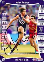 ✺Signed✺ 2019 FREMANTLE DOCKERS AFL Card ALEX PEARCE