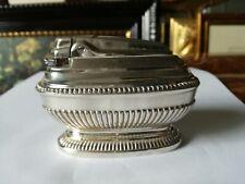 Feuerzeug aus Tabelle Vergoldet Silber Original Ronson Queen Ann