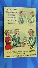 Political Comic Postcard 1910s Lloyd George Maternity Insurance Benefit Theme
