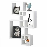 Wooden Modern Storage Shelf  Wall Mounted Home Floating Rack Organizer Decorate