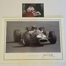 JACK BRABHAM mano firmato 16x12 FOTO F1 MOLTO RARA vedere la prova.