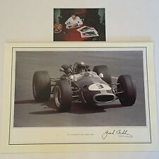 Jack Brabham Hand Signed 16x12 Photo F1 Very Rare SEE PROOF.