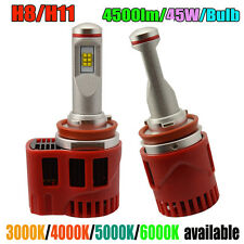 H8 H9 H11 LED HEADLIGHT Kit 90W 900lm CANBUS ZES LIGHTS BULB 3000K Yellow 11-30V