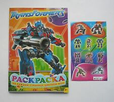 Transformers Coloring Book 16 pages(16x23cm) +Stickers 1 sheet 4x6'' (10x15cm)