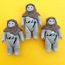 Vintage Star Wars x3 Ewoks, Chief Chirpa LFL 1983 & Melted COO Variant