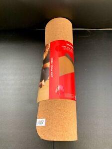 New Balance Cork Yoga Mat Non Slip Eco Friendly Yoga Mat Men & Women Lightweight