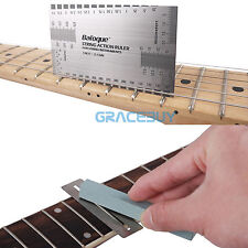 Guitarra String Action Ruler & Fret Protector Guards & Sanding Polish Neck Tool