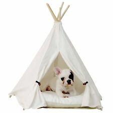 little dove Pet Teepee Dog(Puppy) & Cat Bed - Portable Pet Tents & Houses for.