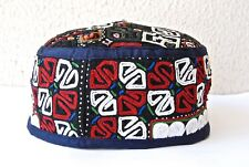 Uzbek Vintage Coton Hat, Ethnik Tribal Uniqe Hat,Cap Duppi,Tubiteyka,Skullcap