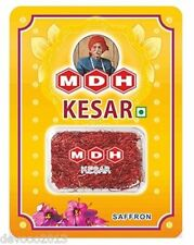 MDH BRAND PURE FINEST HIGH QUALITY INDIAN KASHMIRI SAFFRON SEALED - 1 GRAM/PACK