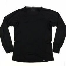 Patagonia Men's Small Asia Fit Lightweight Capilene Baselayer L/S Black Shirt