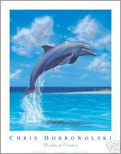 "NEW SIGNED Dolphin 11x14"" Art Print Poster -Dobrowolski"
