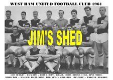 WEST HAM UNITED F.C. TEAM PRINT 1961 (Season 1961-62)