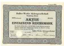 Haller-Werke AG  1939 Hamburg Altona
