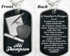 TEACHER'S PRAYER - Dog tag Necklace/Key chain + FREE ENGRAVING