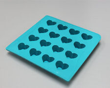 NEW Silicone Chocolate Mold Ice Mould Cube Tray Easter - Heart Teal