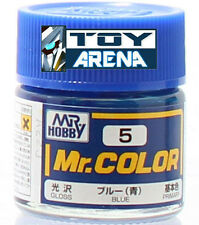 Mr. Hobby Mr. Color C5 Gloss Blue 10ml Bottle Model Kit Paint 10 ML