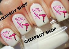 Flash Sale》PINK HAIR STYLIST BEAUTICIAN》BREAST CANCER AWARENESS》Nail Art Decals