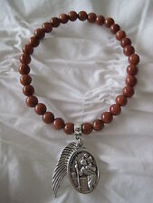 PICK YOUR BEAD St Saint Christopher Patron & Angel Wing Charm on Beaded Bracelet
