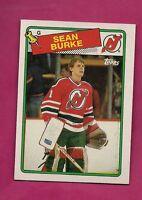 1988-89 TOPPS # 94 DEVILS SEAN BURKE  ROOKIE NRMT-MT CARD (INV# A2161)
