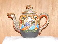 Mid Century Japanese Dragonware Satsuma Moriage Teapot