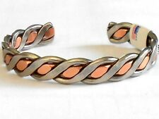 NEW COPPER & NICKEL Ladies  Braided Adjustable Cuff Bracelet Made in the USA