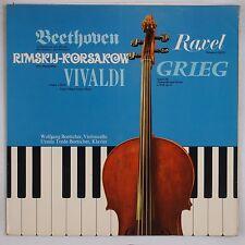 BEETHOVEN, RAVEL: Cello, Piano Sonatas BOETTCHER Private Import LP NM
