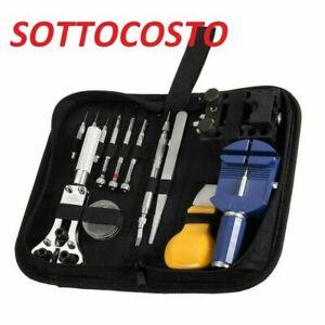 Kit Riparazione Orologi 13 Pezzi Professionale Apri Maglie Batterie Cinturino