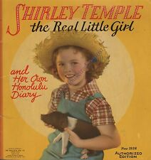 1938 Shirley Temple The Real Little Girl And Her Own Honolulu Diary/ Book 1775