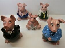 Wade Natwest Pigs - Piggy Bank Family - Full Set of 5 all with Stoppers