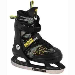 K2 Raider Ice Adjustable Ice Skates - Black/Yellow