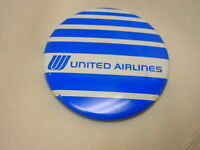 "Vintage Pinback Button United Airlines 2 1/4"" Advertising"