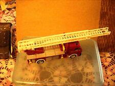 feuerwehr MERCEDES-BENZ METAL DIE CAST red fire truck scale ??? 5 1/2'' lg VG