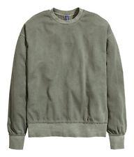 New Rare H&M Khaki XL Oversized Raw Edge Sweatshirt Sweater Jumper FOG Yeezy HM