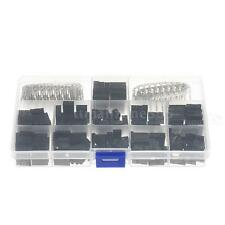 420pcs/Set Jumper Wire Pin Header Connector Housing Kit & M/F Crimp Pins Z3M8