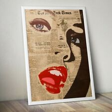 NEW YORK GIRL LIPS POP ART A3 STREET WALL POSTER PRINT - LIMITED EDITION OF 100