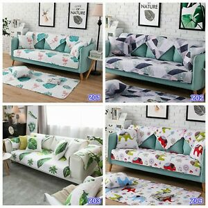 Leaves Furniture Sofa Slipcover Lounge Seat Covers Home Decor Couch Pad Throw