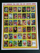 "Limited print 18""×24"" os1 Garbage Pail Kids sketch art poster by Mantel"