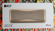 KEF MUO Wireless Bluetooth Speaker - Gold in Colour
