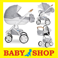 Kinderwagen RIKO BRANO LUXE  3 in 1 Kinderwagen + Sportwagen + Autositz