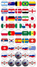45 FOOTBALL RUSSIA WORLD CUP 2018 ALL TEAMS EDIBLE CUP CAKE TOPPERS RICE PAPER 1
