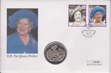 More details for nauru pnc coin cover 2002 queen mother memorial sierra leone coin 0928