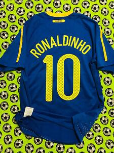 RARE Nike Brazil Brasil Away Soccer Football Jersey 2010 2011 Ronaldinho