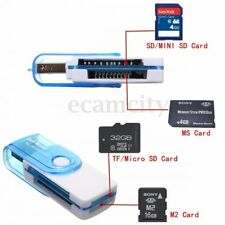 All in one USB 2.0 Multi Memory Card Reader for Micro SD/TF M2 MMC SDHC MS