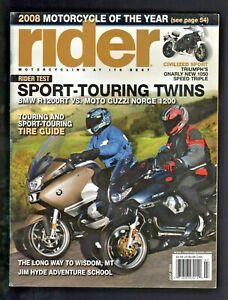 2008 July Rider Motorcycle Magazine - Triumph Speed Triple