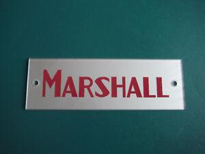 Block Logo  Marshall  (S&M) lighter maroon
