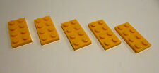 5 x LEGO® 3020 Basis Steine,Grundbausteine 2x4 flach in hell orange Neuware.