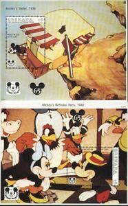 GRENADA SCOTT # 2260-62,  DISNEY : 65th ANNIV MICKEY MOUSE, VAL. $ 17.10