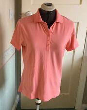 Callaway Ladies Golf Orange Short Sleeve Polo Shirt Opti Dry Size M